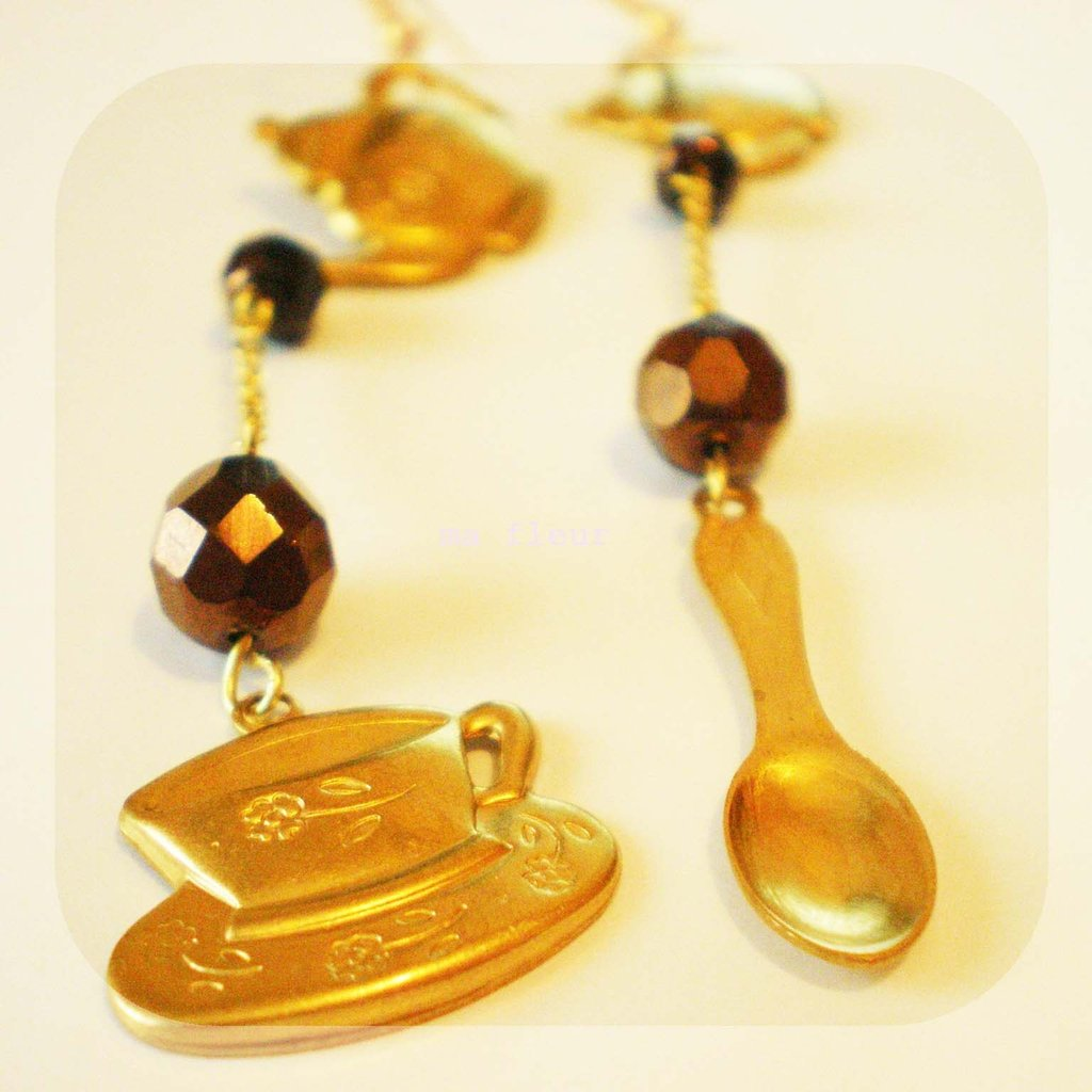TEAPOT, CUP AND SPOON earrings