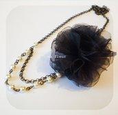 BLACK FLOWER necklace