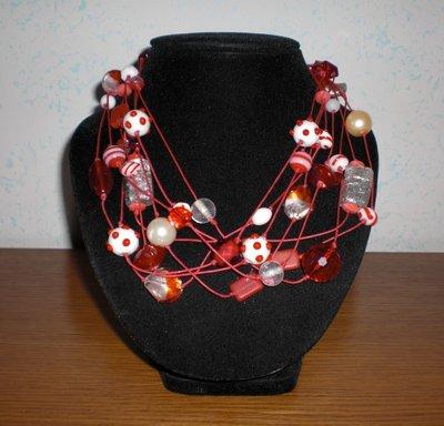 Collana fili rossa
