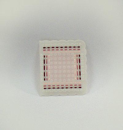 Biglietto in pergamena rosa