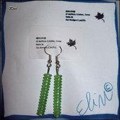 Orecchini a pendolo verdi :)
