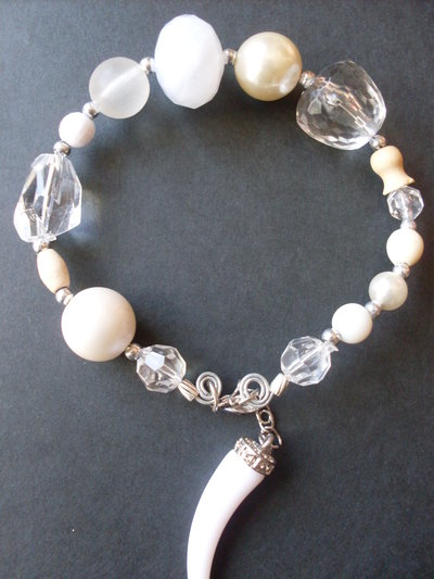 mod.EASYMOON-WHITE   braccialetto