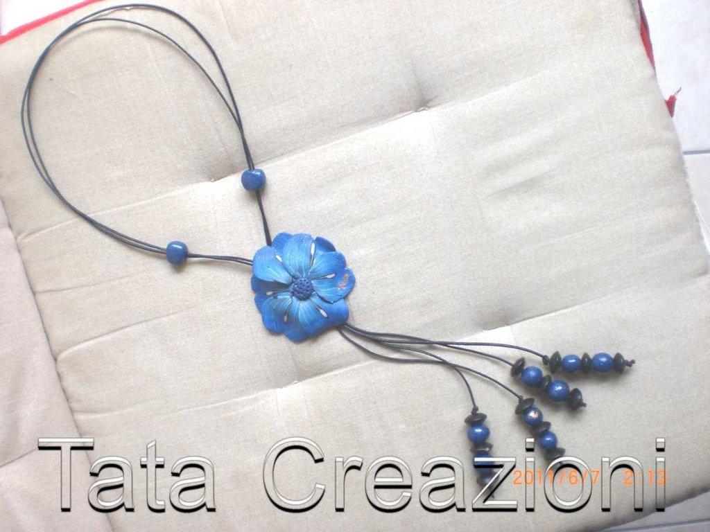 Collana papavero blu