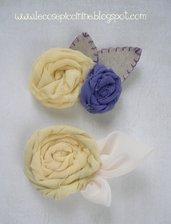 Fermaglio in chiffon - serie rose