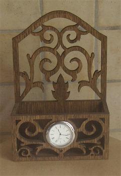 Cestino Traforato con orologio