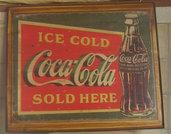 Quadro Targa Pubblicità CocaCola