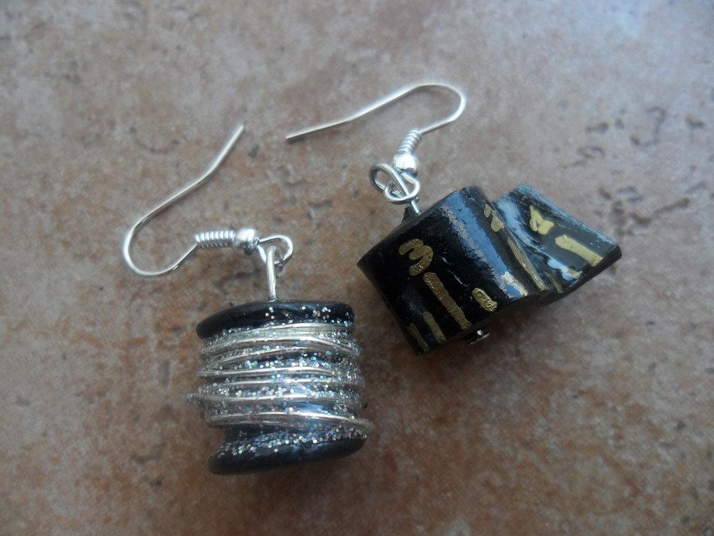 orecchini filo e metro da sarta
