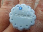 anello cookie azzurro