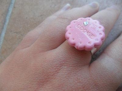 anello cookie rosa