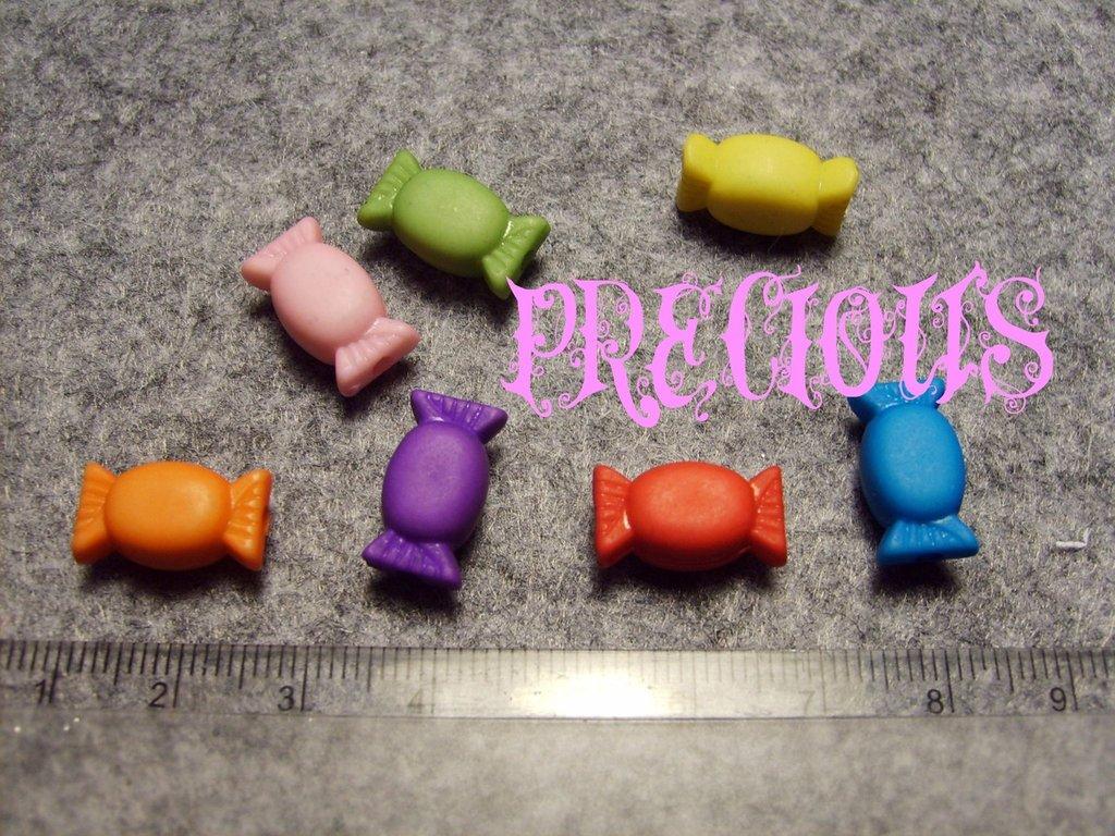 9 perline a forma di caramella