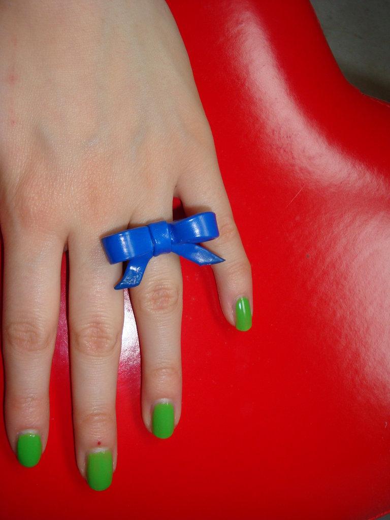 anello fiocco blu
