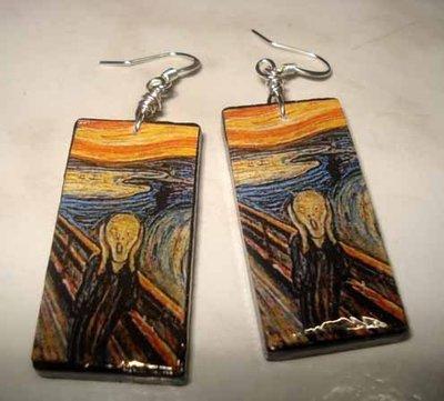 Orecchini in legno Munch