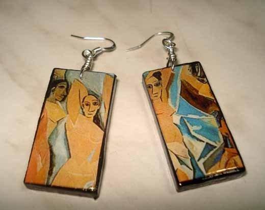 Orecchini in legno Picasso