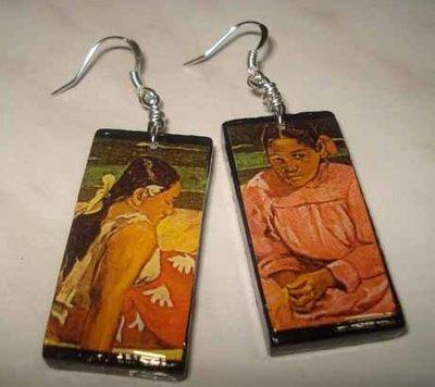Orecchini in legno Gauguin