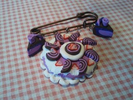 spilla torta panna e fragola