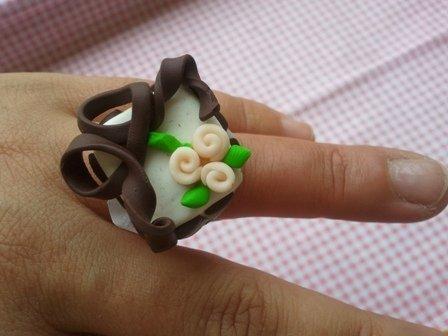 """anello """"nastro di cioccolata"""""""