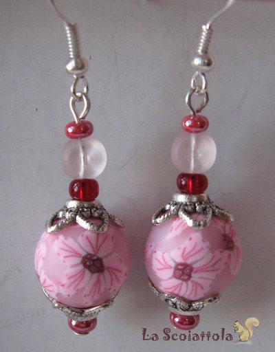 Orecchini rosa #006