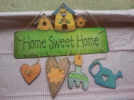 "targhetta ""home sweet home"""