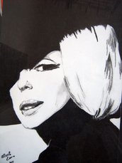 BLACK MARYLIN, no stampa, dipinto a mano 33x48 cm