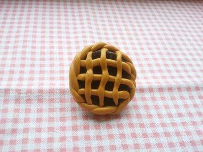 spilla crostata al cioccolato