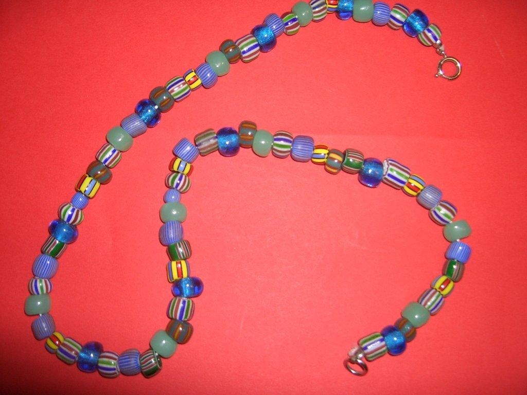 collana perle di vetro murrine