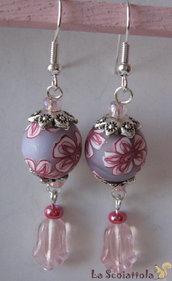 Orecchini rosa #009