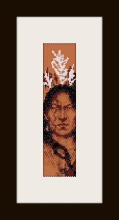PDF schema bracciale indiano d'America in stitch peyote pattern - solo per uso personale