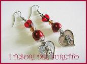 Orecchini Natale 2011 Angioletti angelo rosso Love amore