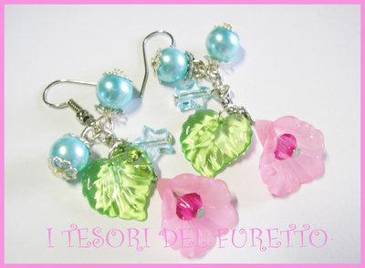 """Orecchini """"Summer Flowers"""" fiori lucite"""
