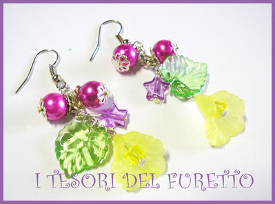"Orecchini ""Summer Flowers"" fiori lucite Giallo"