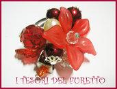 """Anello """"Summer Flower"""" Charm ciondoli fiori perle"""