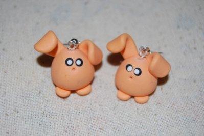 Orecchini Conilli arancioni