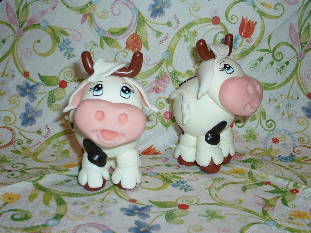 La mucca Camilla in pasta di mais