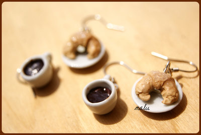orecchini Colazione felice con Caffè e Cornetto ♥