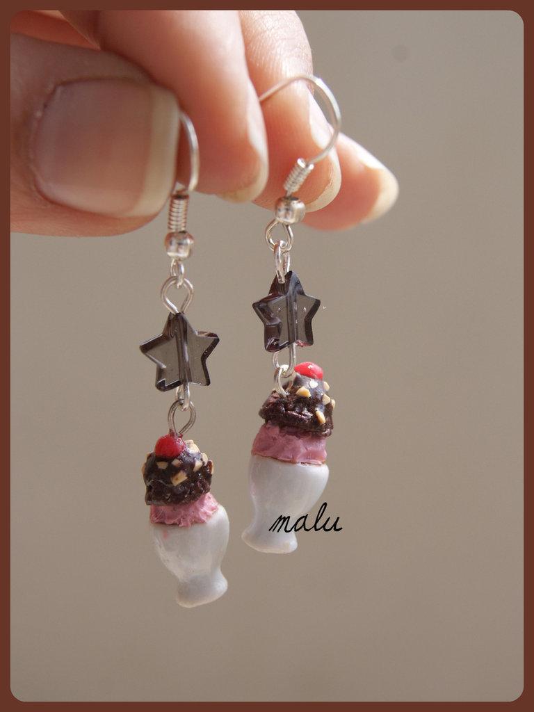 orecchini mini coppette di gelato ♥
