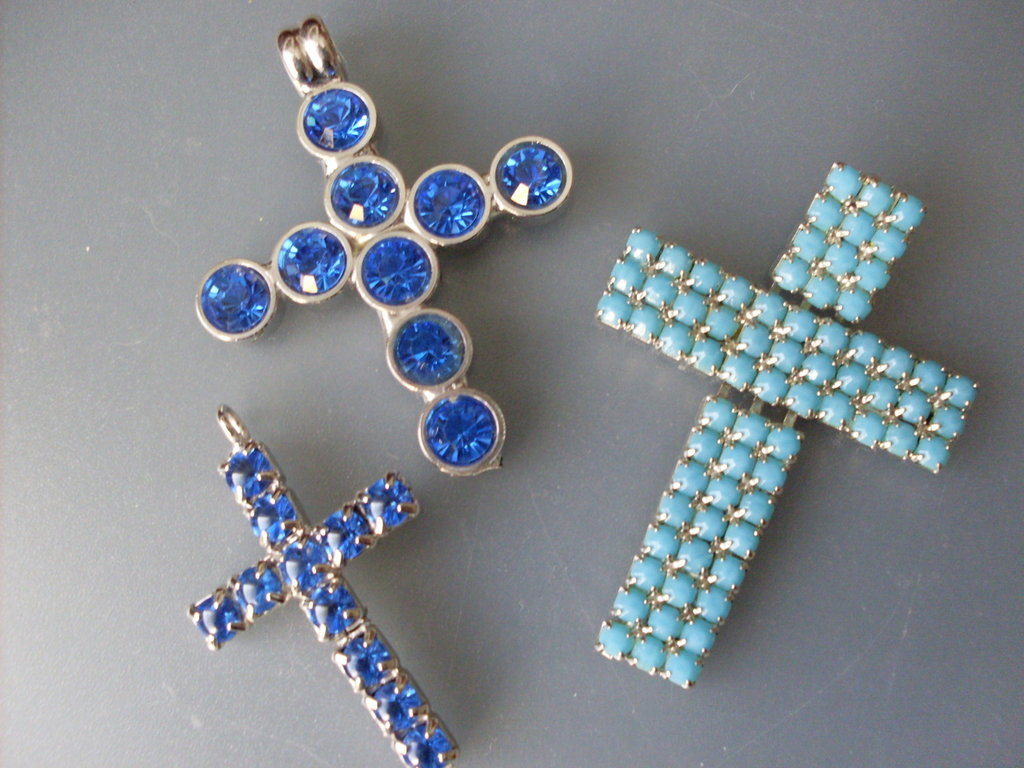ART.191- tris di azzurro-
