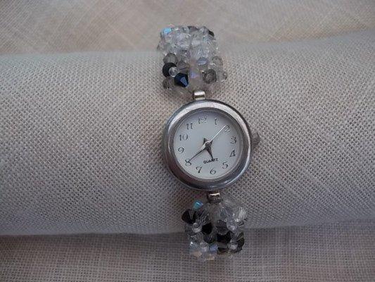 Orologio da polso per donna con bracciale swarovski