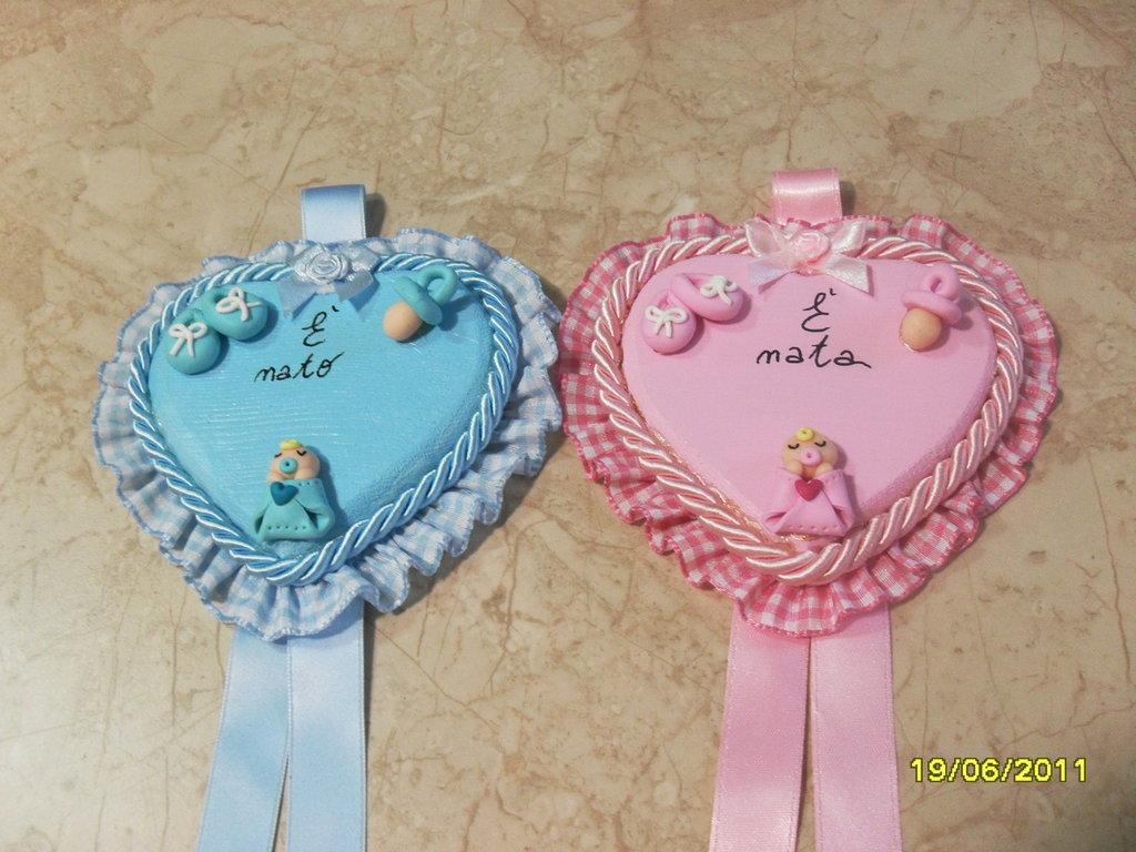 fiocchi nascita rosa e zzurro