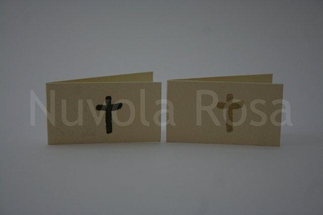 Bigliettino bomboniera comunione con croce