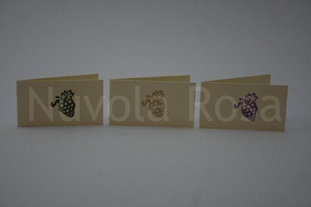 Bigliettino bomboniera comunione con uva