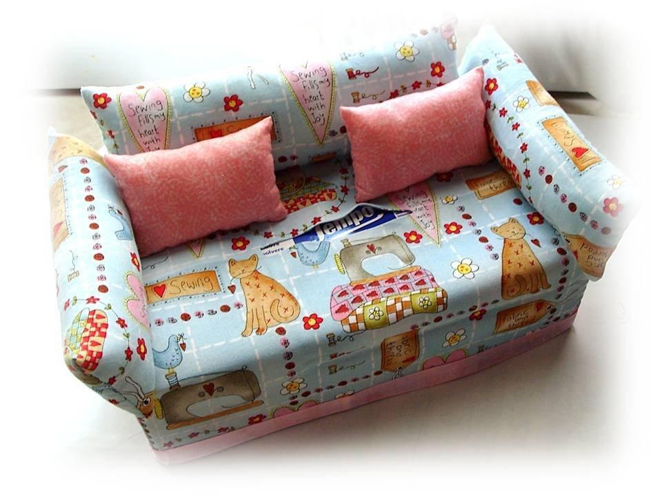 Divanetto portafazzoletti-sofà porta kleenex