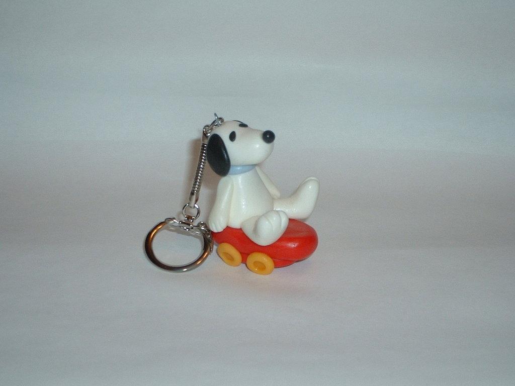 Portachiavi Snoopy in pasta di mais