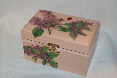 Scatola di legno fiori