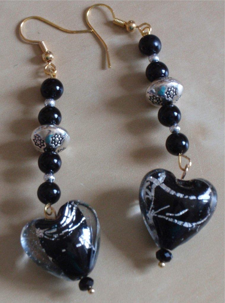 orecchini con cuori vetro - Gioielli - Orecchini - di ...