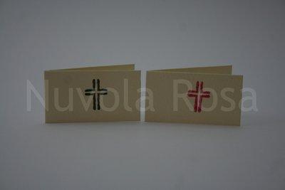 Bigliettino bomboniera cresima con croce doppia