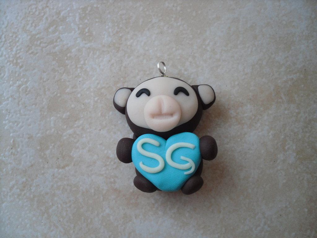 ciondolo scimmietta personalizzata