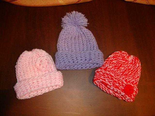cappellini neonato maglia