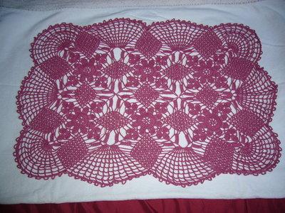 centro rettangolare rosa scuro