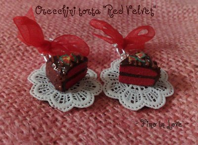 Orecchini Torta Red Velvet