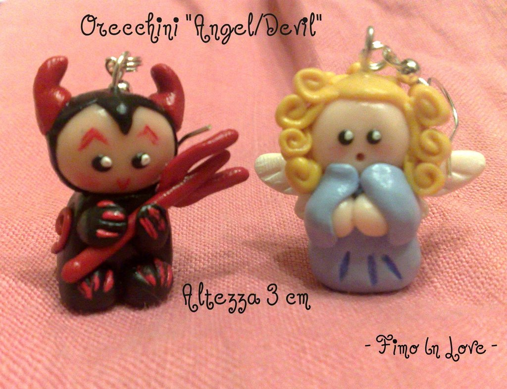 Orecchii Angel/Devil